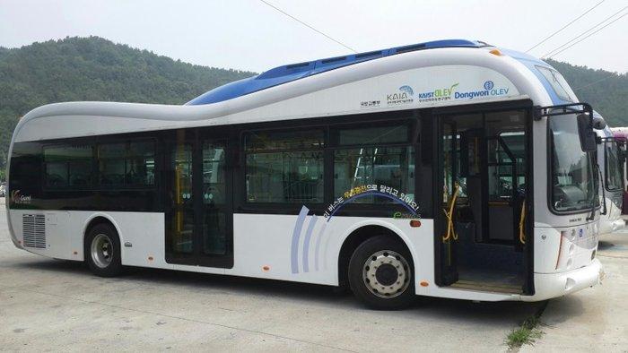 Электробусы с технологией беспроводной подзарядки OLEV | Новости технологий