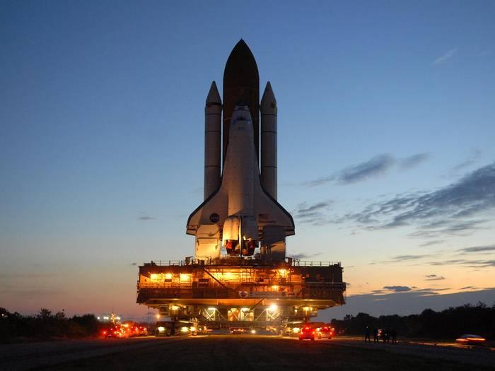 Транспортировка Shuttle к месту запуска
