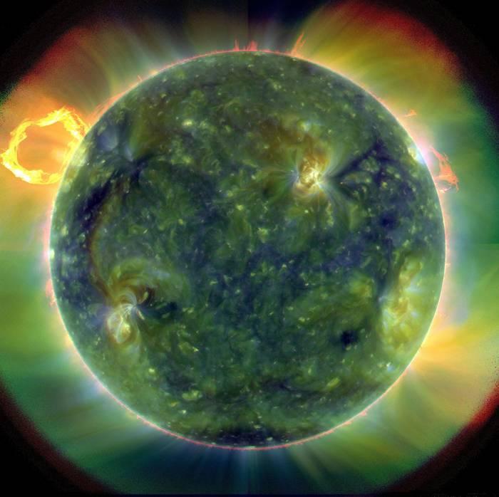Солнце в ультрафиолетовом изображении