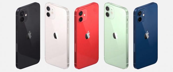 Разнообразие цветов Iphone 12