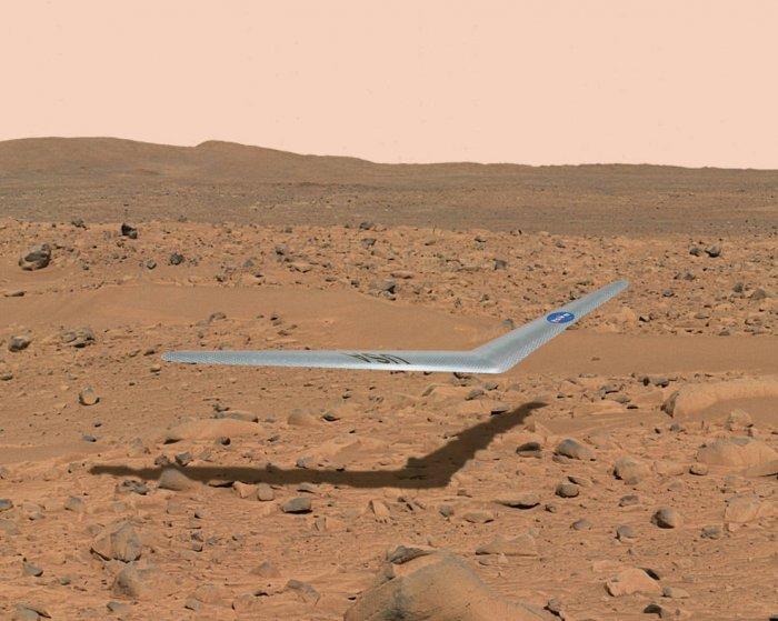 NASA начинает испытание летающего крыла для фотосъёмки Марса