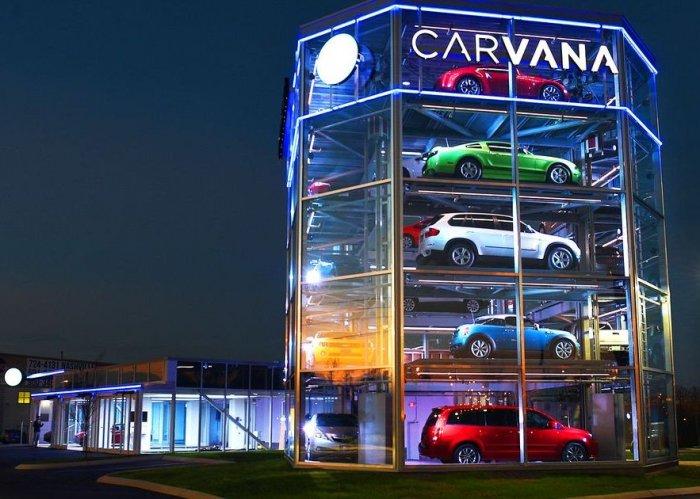 Компания Carvana представила автомат по продаже автомобилей