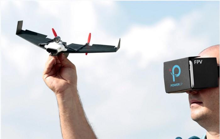 Powerup FPV - управление бумажным самолетиком