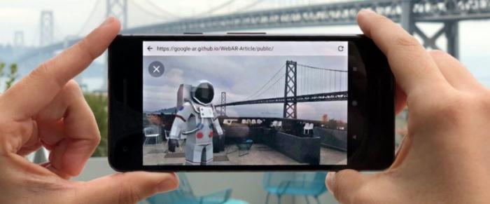 Режим дополненной реальности для браузера от Google