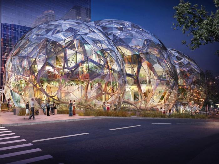 """Тропики в мегаполисе – новый офис """"Сферы"""" для Amazon"""