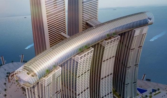 Горизонтальный небоскрёб в городе Чунцин (Китай)