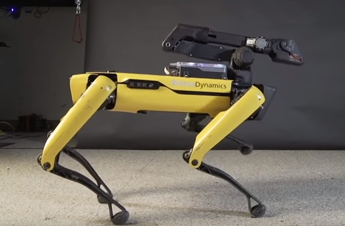 Робот Boston Dynamics танцует под композицию Uptown Funk