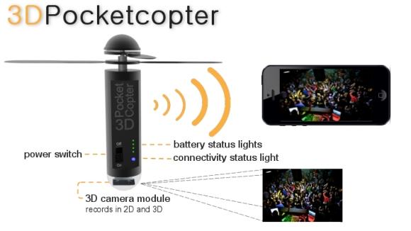 3D Pocketcopter - проект портативной летающей видеокамеры | Новости технологий