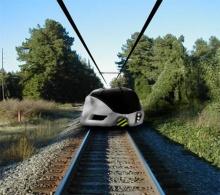 Поезд будущего с индивидуальными капсулами