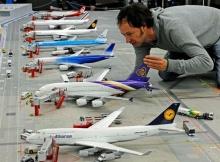 Гигантский макет аэропорта в Гамбурге