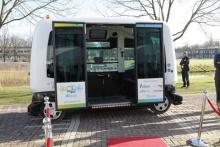 WEpod - первый беспилотный микроавтобус на общественных дорогах в Нидерландах