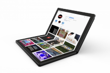 Lenovo представила первый ноутбук с гибким дисплеем