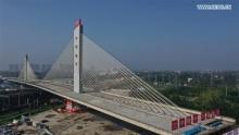 В Китае построен поворотный мост весом 46 000 тонн