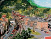 Гигантский макет железной дороги, созданной братьями Браун