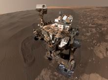 Curiosity на Марсе в районе дюны Намиб