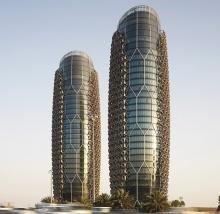 Башни Аль-Бахар - небоскребы с защитным кожухом