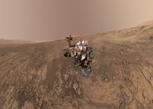 Марсоход Curiosity на хребте Веры Рубин