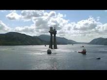 Embedded thumbnail for Буксировка нефтяной платформы